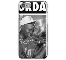 Michael Jordan (Championship Trophy BW) iPhone Case/Skin