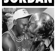 Michael Jordan (Championship Trophy BW) by iixwyed