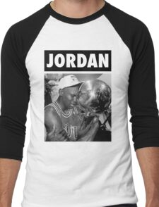 Michael Jordan (Championship Trophy BW) Men's Baseball ¾ T-Shirt