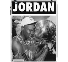 Michael Jordan (Championship Trophy BW) iPad Case/Skin