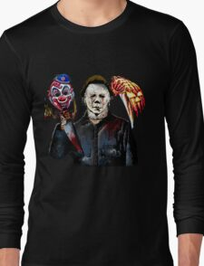 michael myers- past present - masks Long Sleeve T-Shirt