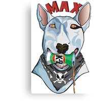 Max the Bull Trerrier Canvas Print