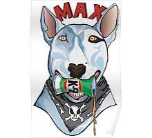 Max the Bull Trerrier Poster