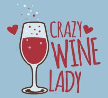 Crazy Wine Lady Kids Tee
