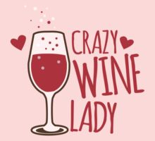 Crazy Wine Lady Kids Clothes