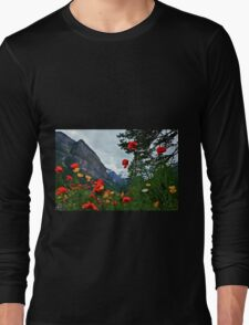 Peaks and Poppies Long Sleeve T-Shirt