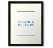 Winter Storm Jonas (Snowzilla) Framed Print