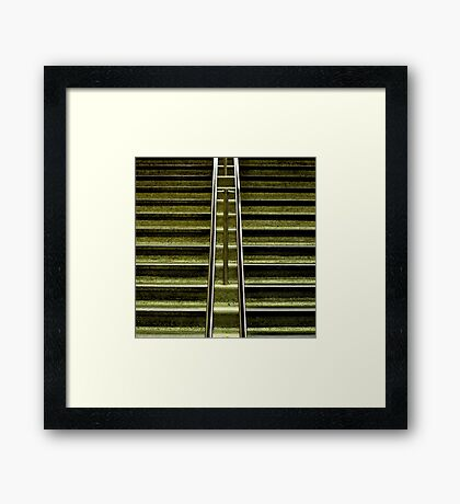 montreal subway Framed Print