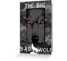 The Big Bad Wolf, fables / the wolf among us Greeting Card