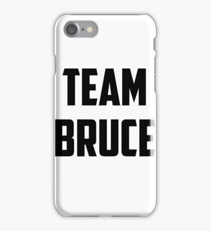 Team Bruce - Black on White iPhone Case/Skin