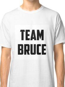 Team Bruce - Black on White Classic T-Shirt