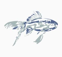 Stenciled Fish Baby Tee