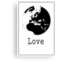 Graphic Globe Ink Canvas Print