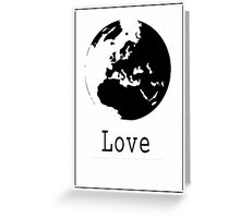 Graphic Globe Ink Greeting Card