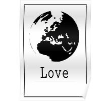 Graphic Globe Ink Poster