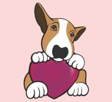 Love You Bull Terrier Puppy Kids Clothes