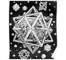 MC Escher Halftone Poster