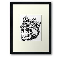 Skull with crown Framed Print