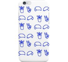 subtle dp phone case - blue&white iPhone Case/Skin