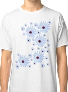 White Daisy with Purple Center Classic T-Shirt