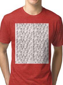 Cool Dude Skateboard Cat Tri-blend T-Shirt