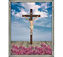 Jesus on the Cross Illustration Photographic Print