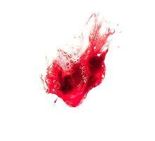 Spit Blood Heart Shape by DFLC Prints