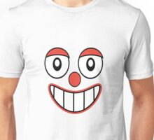 Happy Clown Cartoon Drawing Unisex T-Shirt