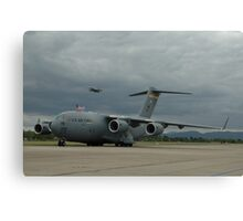 C-17 & Hornet, Richmond Airshow, Australia 2006 Canvas Print
