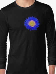 Daisy - Blue and Yellow Long Sleeve T-Shirt