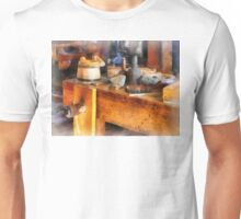 Wood Shop With Wooden Bucket Unisex T-Shirt