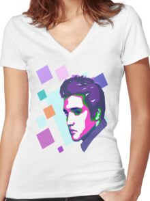 Elvis Presley Women's Fitted V-Neck T-Shirt