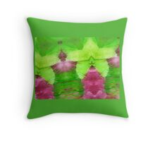 Abstracted leaves and petals. Throw Pillow