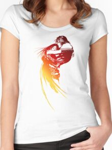 Final Fantasy 8 logo Women's Fitted Scoop T-Shirt