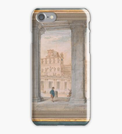 Gian Paolo Panini  Piazza San Pietro and the Vatican Palace from the Colonnade of St. Peter's iPhone Case/Skin