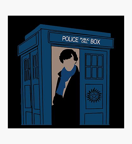 Supernatural, Doctor Who and Sherlock  Photographic Print