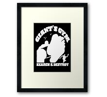 Search & Destroy (White) Framed Print