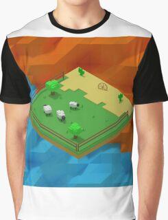 Isometric Desert Farm Graphic T-Shirt
