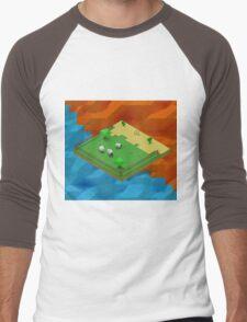 Isometric Desert Farm Men's Baseball ¾ T-Shirt