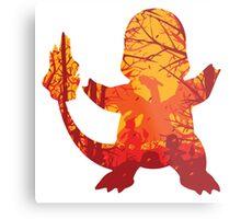 Forest on Flames Alt. Metal Print