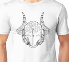 Iron Champion's Helm (Linework Only) Unisex T-Shirt