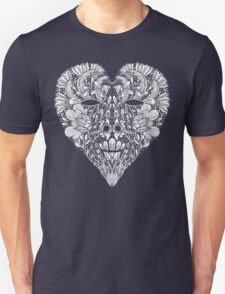 Flower Heart Lace Skull T-Shirt