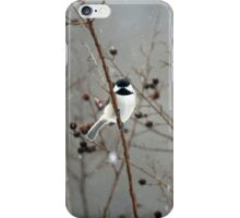 Chilly Chick-a-Dee iPhone Case/Skin