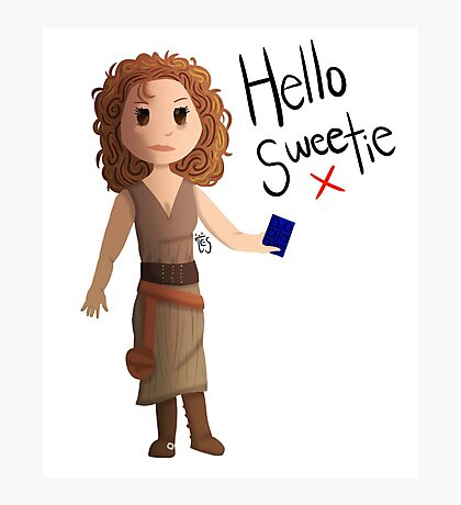 Hello Sweetie River Song Photographic Print