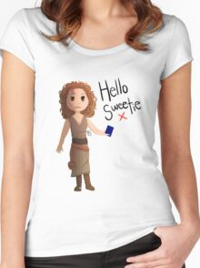 Hello Sweetie River Song Women's Fitted Scoop T-Shirt