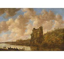 Jan van Goyen, Mighty Castle on a Rock Photographic Print