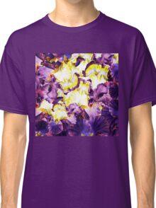 Iris Flower Petals Abstract  Classic T-Shirt