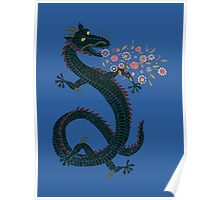 Flower-breathing Dragon Poster