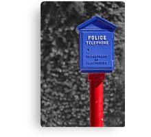 Police Telephone Canvas Print