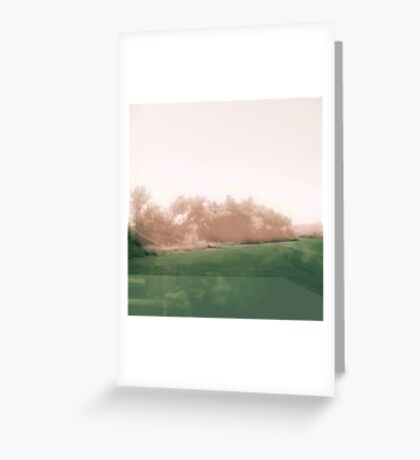 Abstract Desert Landscape  Greeting Card
